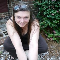 Laura crouching Prior foot injury